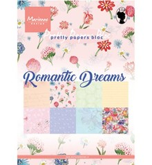 Marianne Design Romantic Dreams A5 Pretty Papers Bloc (PK9160)