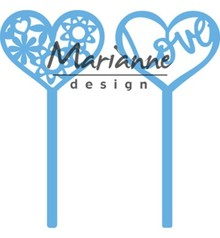 Marianne Design Creatable Heart Pins (Set of 2) (LR0573)