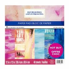 Craft Smith Bold Brushstrokes 12x12 Inch Paper Pad (MPP0423)