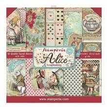 Stamperia Alice 12x12 Inch Paper Pack (SBBL52)