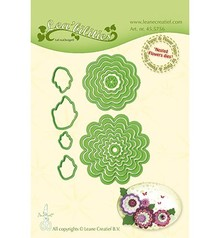 Leane Creatief Snijmal Nested Flowers (45.5756)