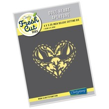 Claritystamp Fresh Cut Dove Heart Aperture Die (ACC-DI-30717-34)
