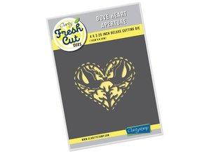 Claritystamp Fresh Cut Dove Heart Aperture Die (ACC-DI-30717-34)
