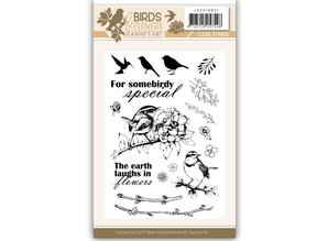 Jeanine's Art Birds & Flowers Clear Stamp Set (JACS10021)