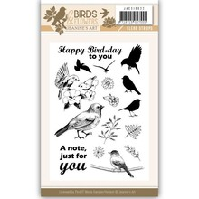 Jeanine's Art Birds & Flowers Clear Stamp Set (JACS10022)