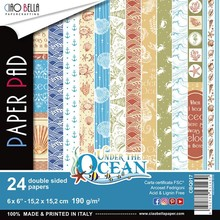 Ciao Bella Papercrafting Under the Ocean 6x6 Inch Paper Pad (CBQ017)