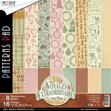 Ciao Bella Papercrafting Voyages Extraordinaires 12x12 Inch Patterns Pad (CBT020)