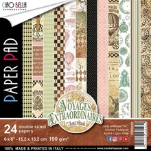 Ciao Bella Papercrafting Voyages Extraordinaires 6x6 Inch Paper Pad (CBQ020)