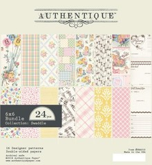 Authentique Swaddle Girl 6x6 Inch Paper Pad (SWA010)