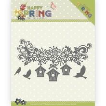 Precious Marieke Happy Spring Happy Birdhouses Die (PM10148)