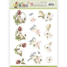 Precious Marieke 3D Push Out Happy Spring Happy Birds (SB10327)