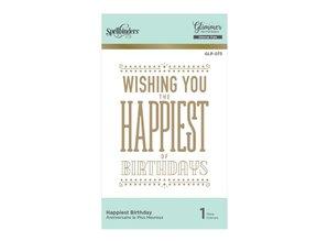 Spellbinders Happiest Birthday Hot Foil Plate (GLP-073)