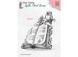 Nellie Snellen Book With Owl Clear Stamp (IFS013)