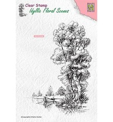 Nellie Snellen Tree With Boat Clear Stamp (IFS014)