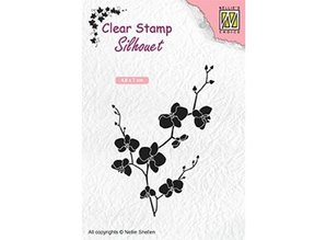 Nellie Snellen Branch With Flowers Clear Stamp (SIL053)