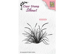 Nellie Snellen Blooming Grass 2 Clear Stamp (SIL057)