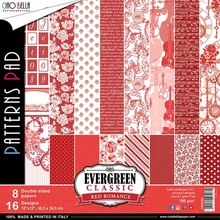 Ciao Bella Papercrafting Evergreen Classic Red Romance 12x12 Inch Paper Pack (CBTE004)