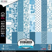 Ciao Bella Papercrafting Evergreen Classic Italian Blue 12x12 Inch Paper Pack (CBTE003)
