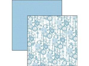 Ciao Bella Papercrafting Evergreen Classic Italian Blue 12x12 Inch Paper Pack (CBTE003)