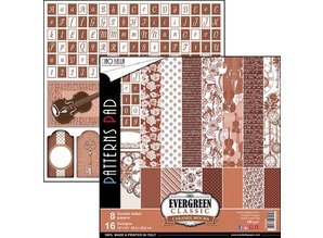 Ciao Bella Papercrafting Evergreen Classic Caramel Mocha 12x12 Inch Paper Pack (CBTE002)