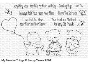 My Favorite Things Die-Namics Joyful Heart Bears (MFT-1447)