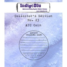 IndigoBlu Collectors Edition 23 Rubber Stamp - ATC Coin (IND0492)