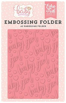 Echo Park Baby Girl Embossing Folder (OBG171031)