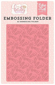 Echo Park Baby Pin Embossing Folder (OBG171032)