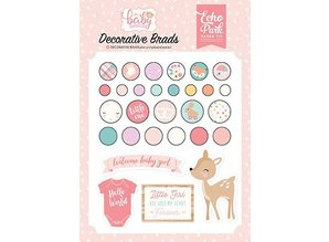 Echo Park Hello Baby Girl Decorative Brads (OBG171020)