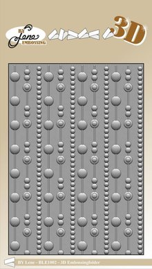 By Lene Dots 3D Embossing Folder (BLE1002)