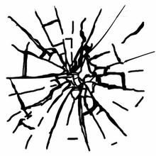 Stamperia Natural Rubber Stamp Broken Glass Imitation (WTKCC153)