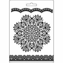 Stamperia Texture Impression Soft Mould A5 Doily Pattern (K3PTA516)