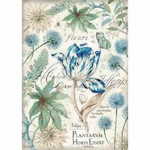 Stamperia Rice Paper A4 Blue Tulip (DFSA4355)