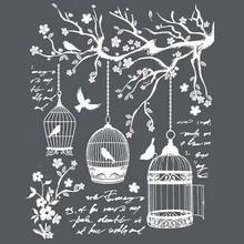Stamperia Media Stencil Little Cages (KSTD040)