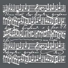 Stamperia Media Stencil Music Scores (KSTDQ17)