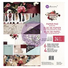 Prima Marketing Inc Midnight Garden 12x12 Inch Paper Pad (635992)
