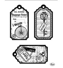 Viva Decor Tags Bicycle Clear Stamp Set (4003 120 00)