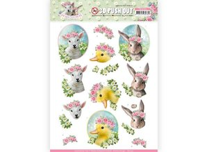 Amy Design 3D Push Out Spring Is Here Baby Animals (SB10331)