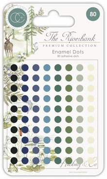 Craft Consortium The Riverbank Adhesive Enamel Dots (CCADOT002)