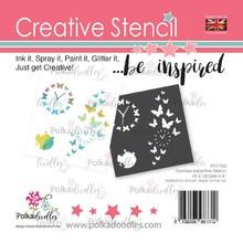 Polkadoodles Timeless Butterflies 6x6 Inch Creative Stencil (PD7703)