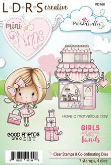 Polkadoodles Mini Winnie Boutique Clear Stamps & Co-Ordinating Dies (PD168)