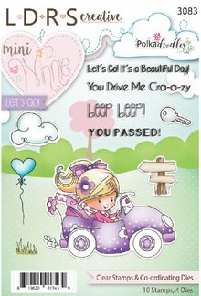 Polkadoodles Mini Winnie Let's Go Clear Stamps & Co-Ordinating Dies (PD176)