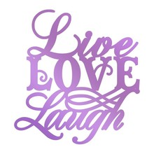 Couture Creations Butterfly Garden Live, Love, Laugh Hot Foil Stamp (CO726567)