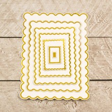 Couture Creations Nesting Scallopped Rectangles Cut, Foil & Emboss Die (CO726457)