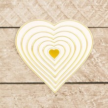 Couture Creations Nesting Hearts Cut, Foil & Emboss Die (CO726458)