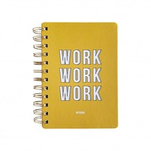 Studio Stationery Notebook Work Work Work Yellow (145000)