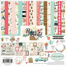 Carta Bella Flower Market 12x12 Inch Collection Kit (CBMK96016)