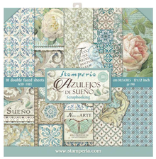 Stamperia Azulejos 12x12 Inch Paper Pack (SBBL55)