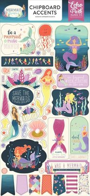 Echo Park Mermaid Dreams 6x13 Inch Chipboard Accents (MDR175021)