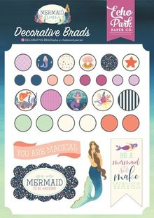 Echo Park Mermaid Dreams Decorative Brads (MDR175020)